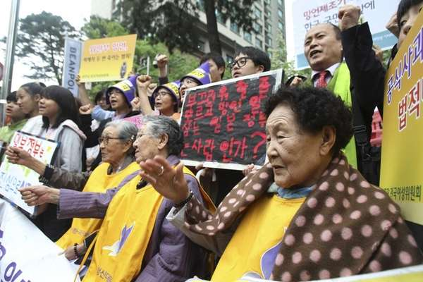 Former South Korean comfort women who were forced