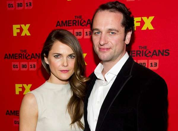 """The Americans"" co-stars Keri Russell and Matthew Rhys"