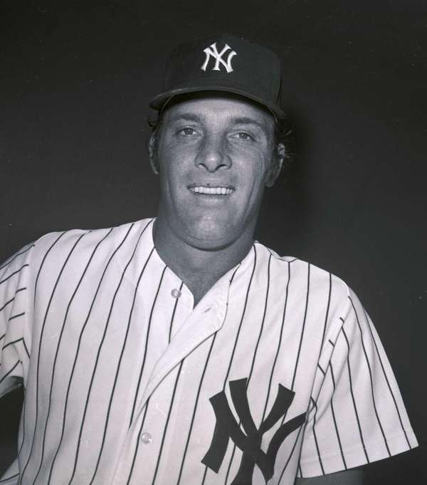 Yankees infielder Mike Hegan poses for a photo