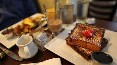 The french toast is among the several breakfast