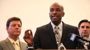 Nassau Legislator Kevan Abrahams along with other democratic