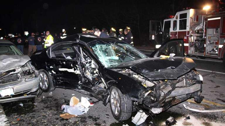 A motorist speeding in East Patchogue rear-ended one