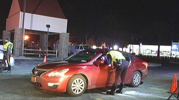 Suffolk police held a sobriety checkpoint on Route