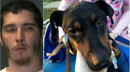 Left: Steven Errante, 26, of Dix Hills, faces