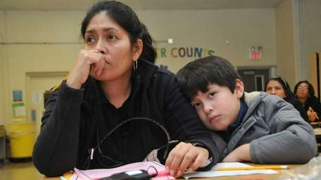 Martha Moreno, 42, of Massapequa, and her son