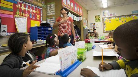 First-grade teacher Sandra James teaches an ELA Core
