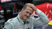 Formula One driver Michael Schumacher gestures at the