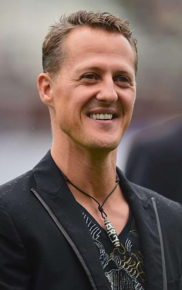 Formula One legend Michael Schumacher looks on during