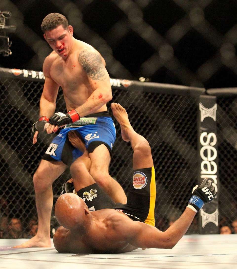 UFC middleweight champion Chris Weidman defeats Anderson Silva
