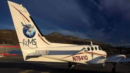 This photo courtesy of FlyforMS.org shows a twin-engine
