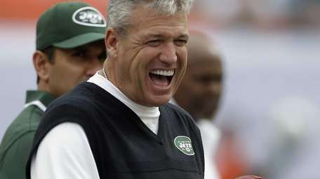 Rex Ryan has a laugh on the sideline