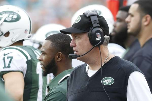 Rex Ryan looks on during fourth-quarter action of