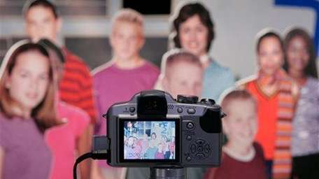 A Panasonic digital camera is on display at