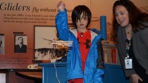 Wesley Baccay, 10, of upstate Chappaqua, flies a