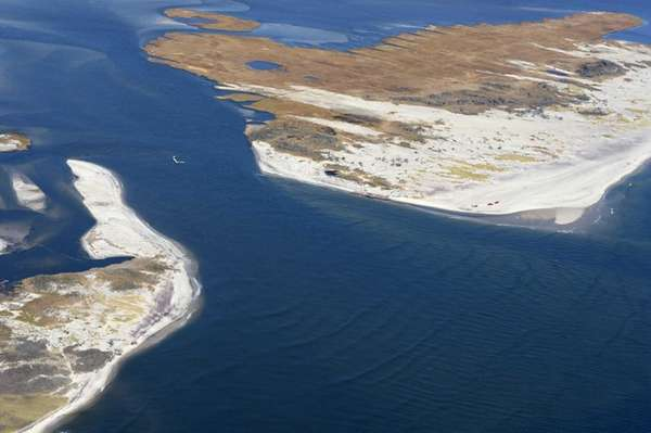 The breach in Fire Island caused in October