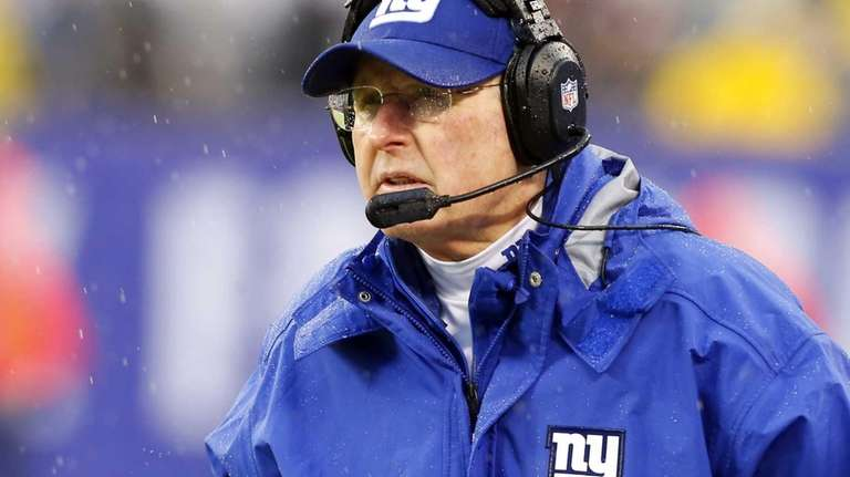 Tom Coughlin looks on against the Washington Redskins