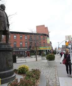 A statue of Gen. Edward Fowler, who led