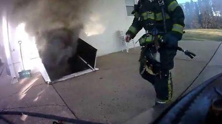 Firefighter John Senia captured video with a camera