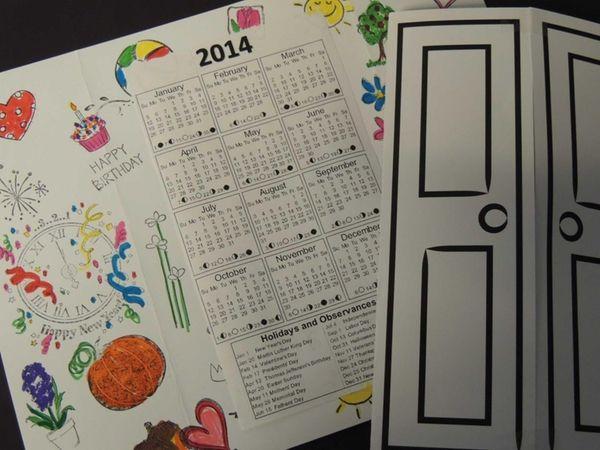 Kids can make their own 2014 calendars at