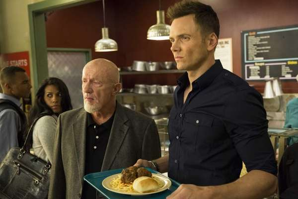 Jonathan Banks as Hickey, left, and Joel McHale