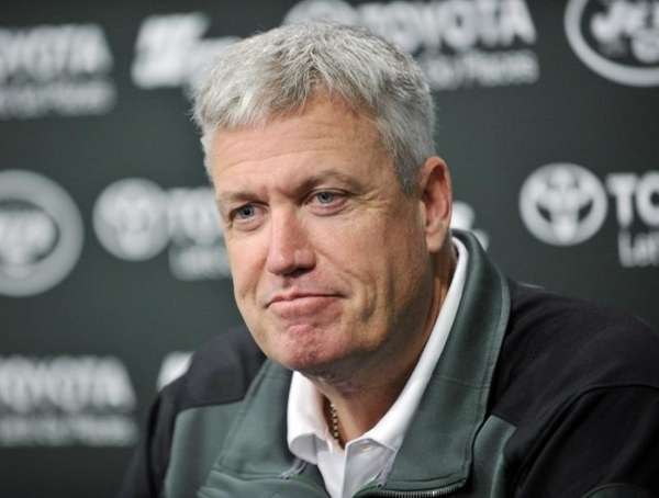 New York Jets coach Rex Ryan speaks to