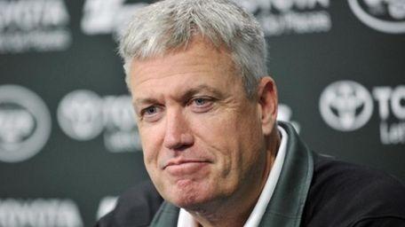New York Jets coach Rex Ryan speaks to
