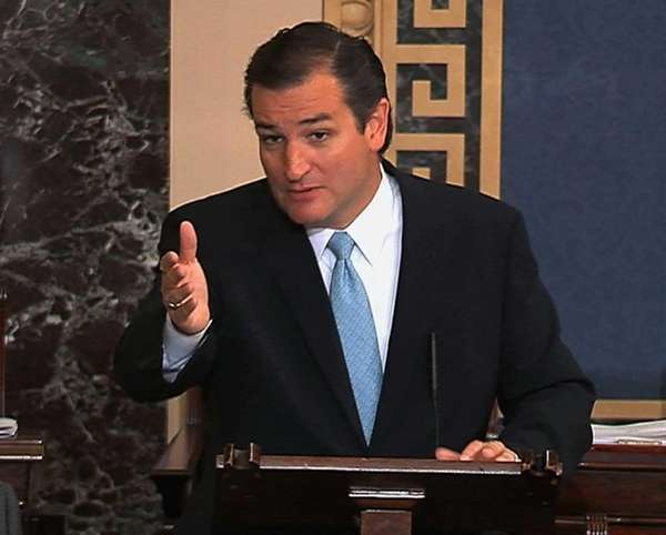 Sen. Ted Cruz conducts his