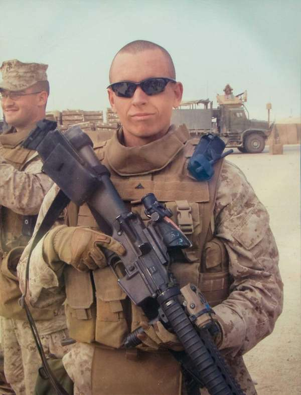 A copy photo of Marine Lance Cpl. Haerter,