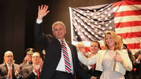 Glen Cove's new Mayor Reginald Spinello, with his