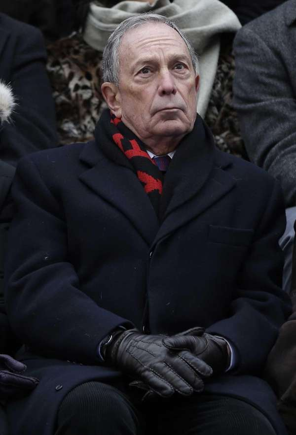 Former New York City mayor Michael Bloomberg attends