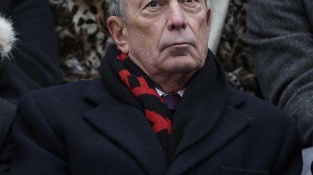 Former New York City mayor Michael Bloomberg attends
