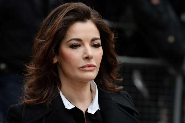 British television chef Nigella Lawson arrives at Isleworth