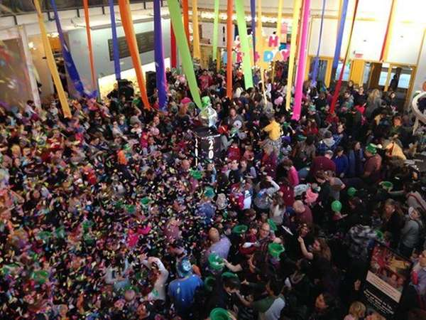 The ball drops at the Long Island Children's