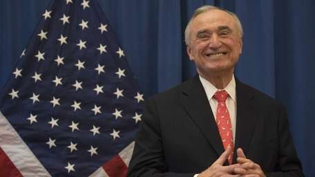 William J. Bratton attends a press conference in