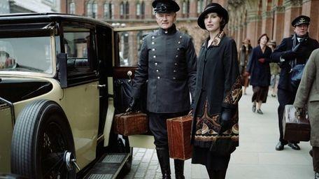 Laura Carmichael as Lady Edith in a scene