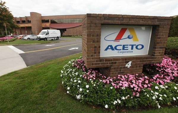 Port Washington chemical supplier Aceto Corp. led the