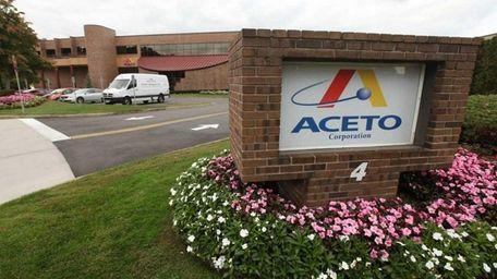 Port Washington chemical supplier Aceto Corp. led the