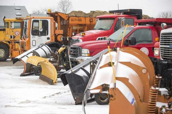Southold Town Highway Department in Peconic prepares with