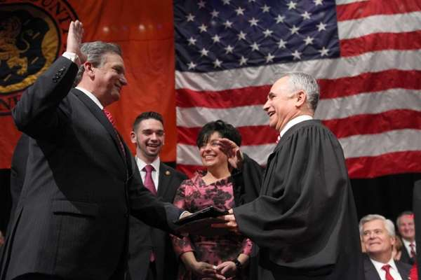 Nassau County Executive Edward Mangano is sworn into
