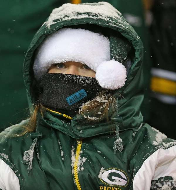 A fan of the Green Bay Packers tries