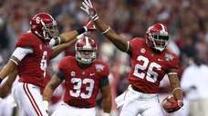 Landon Collins of the Alabama Crimson Tide celebrates