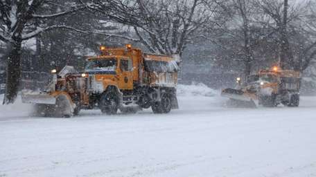 Plows on Stewart Avenue in Garden City. (Jan