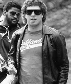 Miami Dolphins quarterback Dan Marino attired in tee-shirt