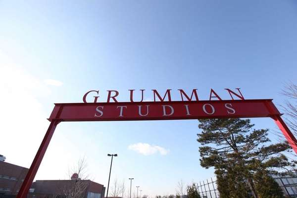 The entrance to Grumman Studios in Bethpage. Grumman