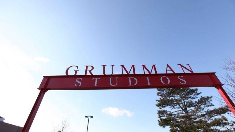 The entrance to Grumman Studios in Bethpage. Grumman