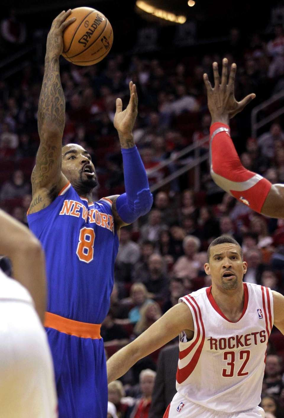 Knicks guard J.R. Smith takes a shot during