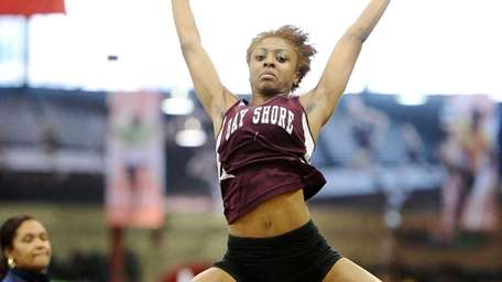 Imani McGhee of Bay Shore won the girls