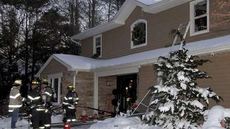 Two homes caught fire in Dix Hills after