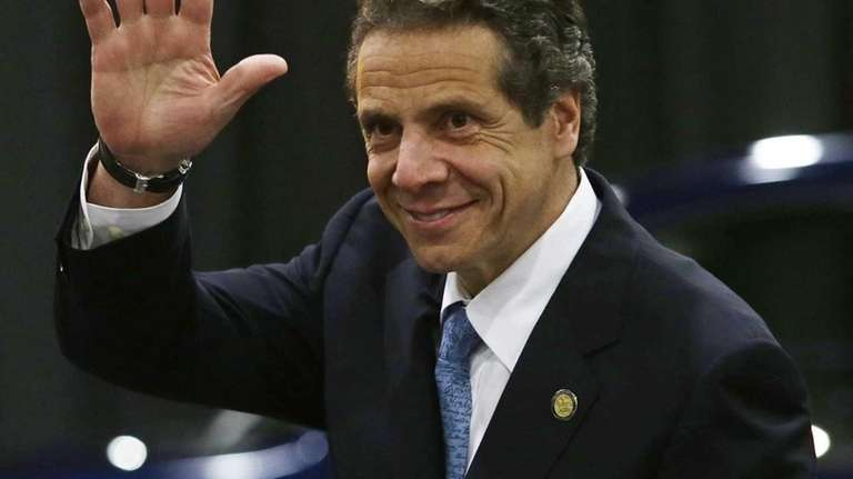 New York Gov. Andrew Cuomo arrives for a