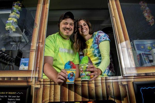 Frozen-treat sellers Shaun and Kim Beymolla, of North